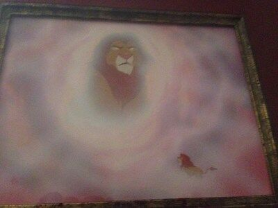 Disney's Lion King Concept Art!  Simba and Mufasa in the sky- Great scene!