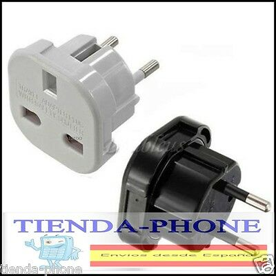 Adaptador Red Enchufe UK Ingles Reino Unido  Europeo UE Universal Adapter Plug