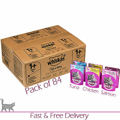 Whiskas Wet Cat Food Multi Pack 1+ Adult Mixed Selection Pouches Pack of 84