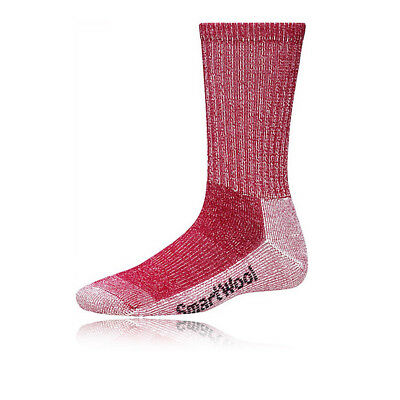 SmartWool Light Crew Womens Red Merino Wool Mid Height Outdoors Hiking Socks