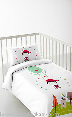 HACIENDO EL INDIO FANTASY Funda nordica para cuna de 60cm /Duvet cover for cot