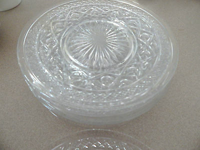 """Imperial Cape Cod Crystal 8"""" Salad Plates, Set of 8"""