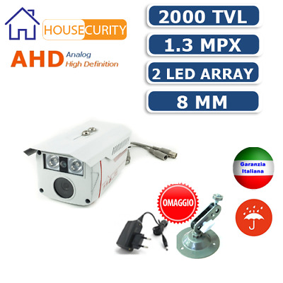 Telecamera Videosorveglianza Ahd Ir 8 Mm 1.3Mp  Hd Ip Cam Led Araay