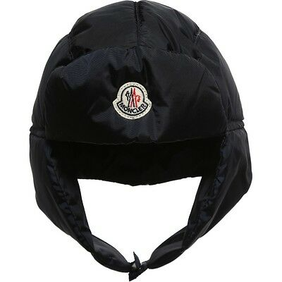Moncler Baby Navy Down Padded Hat 9-18 Months