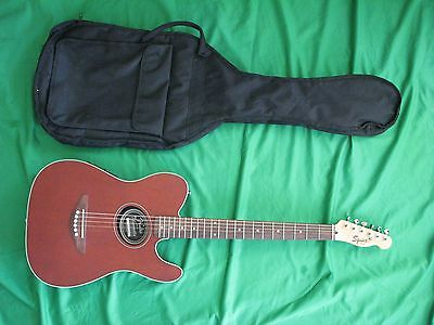 Fender Squier Telecoustic Acoustic / Electric Guitar with Gig Bag