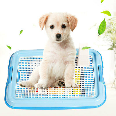 Portable Pet Dog Indoor Restroom Training Potty Pee Toilet Fence Tray Mat