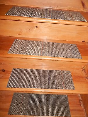 "13 STEP Indoor  Stair Treads Staircase 8"" x 24"" Nylon Carpet."