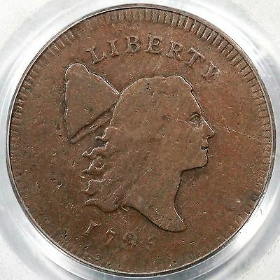 1795 C-6a R-2 PCGS VG 10 CAC Pl Edge, No Pole Liberty Cap Half Cent Coin 1/2c