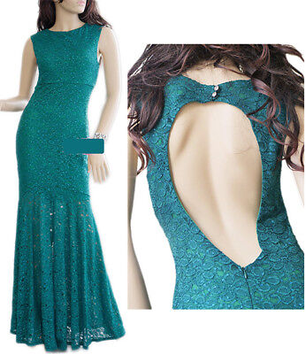Hunter Green Long Mermaid Evening Gown - Bridal, Bridesmaids, Prom (size6)