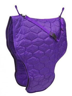 Showman PURPLE Quilted  Nylon Zippered Western Saddle Bag Padded Lining
