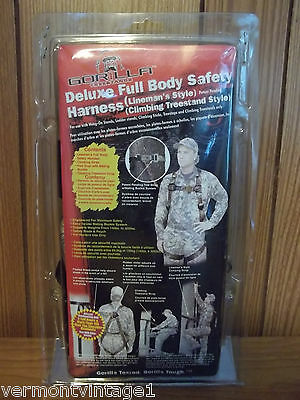 Gorilla Tree Stand Harness - Deluxe Full Body Safety Lineman Style - Model 43060