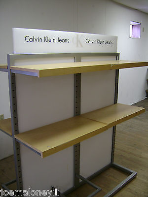 Calvin Klein Jeans Retail Shelving  Rack 8 Shelf Clothing Display Rack