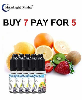 E LIQUID JUICE E SHISHA REFILL ELECTRONIC CIGARETTE OIL FLAVOUR NO NICOTINE 10ml