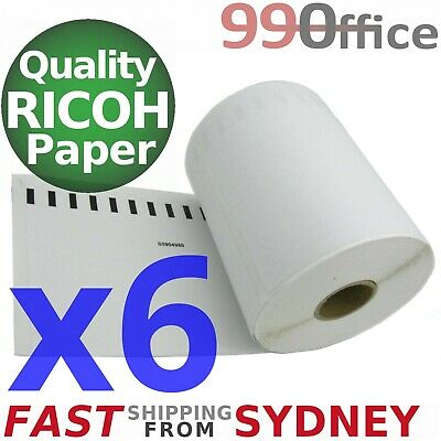 6x Compatible Dymo 4XL Label 220 Roll SD0904980, Large 104x159mm, eParcel Sydney