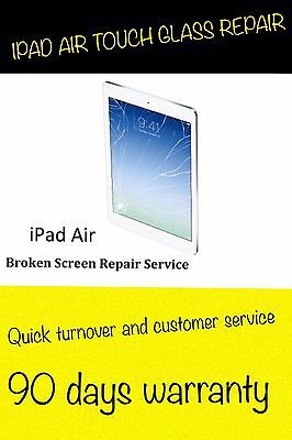 Apple iPad Air 5 CRACKED GLASS DIGITIZER TOUCH SCREEN REPAIR REPLACEMENT SERVICE