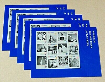 New 60 (5 x 12) MASTERWORKS OF MODERN AMERICAN ARCHITECTURE 37 ¢ US Stamps #3901