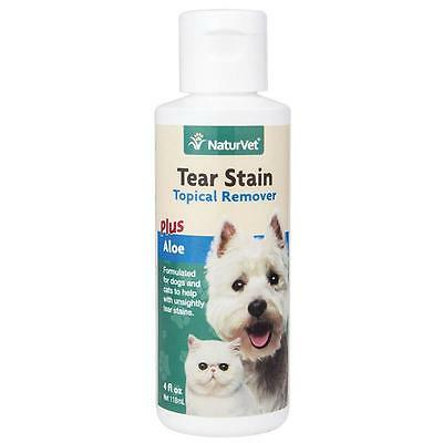 NaturVet Tear Stain Remover Dog & Cat Liquid Topical Formula, 4-oz bottle
