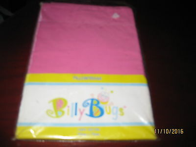 PILLOW SHAM - 100% COTTON - BRIGHT PINK 50cm X 70cm BY BILLY BUGS