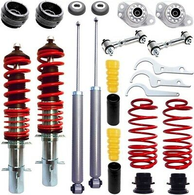 Red Series Coilover +Drop Links + Strut Mount +Dust Cover -  Bora /golf 4