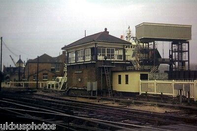 Newhaven Harbour Signal Box, East Sussex 1972 Rail Photo