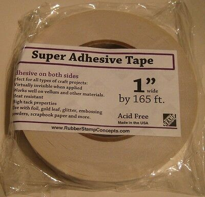 "Rubber Stamp Concepts Super Adhesive Double Sided 1"" Roll"