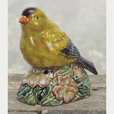 Coyne's & Company Porcelain Yellow Finch with Motion Activated Chirping Sound