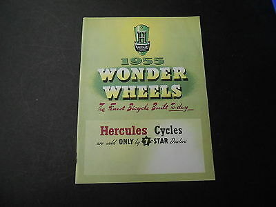 Hercules 1955 Bicycle Cycle Catalog Catalogue Brochure