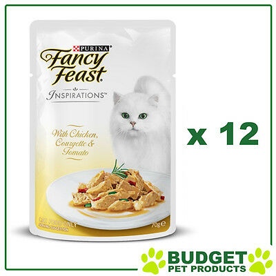Fancy Feast Inspirations - Chicken, Courgette & Tomato 70g x 12 Pouches