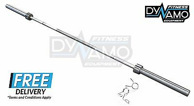 Olympic Barbell 7FT 2.2m 20kg with 700 LBS Rating 2 spring clips for gym