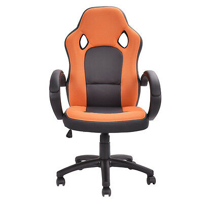 High Back Executive Bucket Seat Racing Style Chair Computer Office Desk Task New