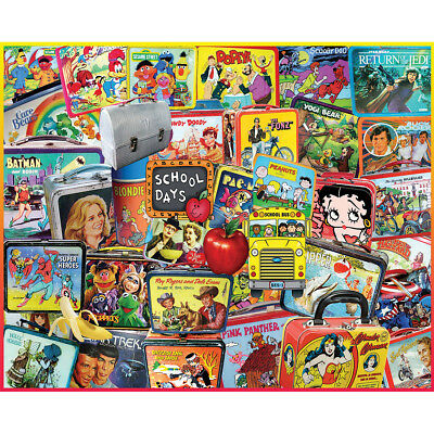 """Jigsaw Puzzle 1000 Pieces 24""""X30"""" Lunch Boxes WM946"""