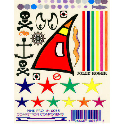 """Pine Car Derby Decal 4""""X5"""" Jolly Roger PP10055"""