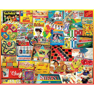 """Jigsaw Puzzle 1000 Pieces 24""""X30"""" Games We Played WM924"""