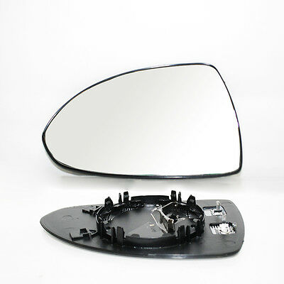 Left Wide Angle Heated & Base Wing Mirror Glass For Opel Vauxhall Corsa D 06 -