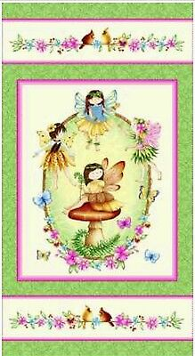 Fairies Of The Earth Quilt Panel * New * In Stock * Free Post *