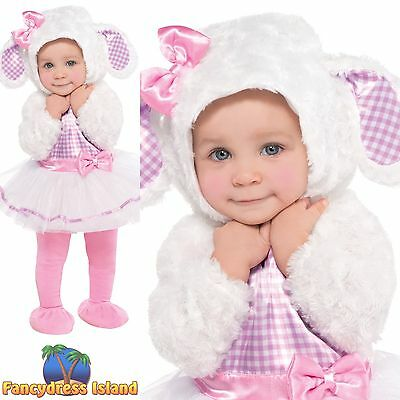 BABY TODDLER LITTLE LAMB SHEEP CHRISTMAS childs girls cutie fancy dress costume