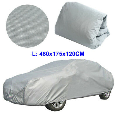 L Universal Full Car Cover Resist Sun UV Dust Anti-Scratch Waterproof Protection