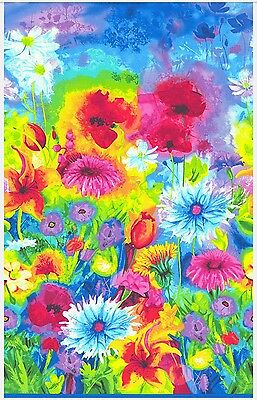Ambrosia Wildflower Happiness Fabric/panel * Gorgeous * In Stock * Free Post *