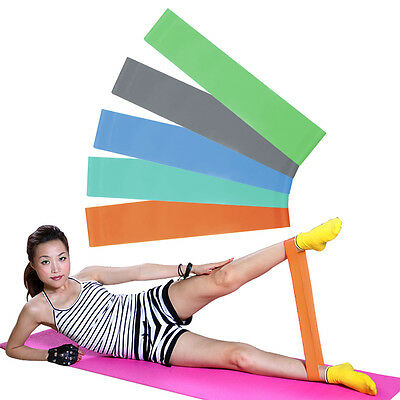 Yoga Fitness Resistance Band Elastic Latex Belt Loop Pull Strength Training BY