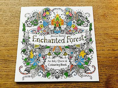 Adult Children Enchanted Forest An Inky Quest Colouring Book New Practical Gift