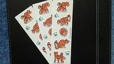 ♪♪♪ Sandylion Stickers Scrapbooking Fuzzy TIGER, PAWS lot (3 strips) ♪♪♪