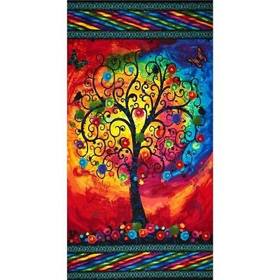 Fantasia Tree Of Life Quilt Panel * Stunning * Most Popular * Free Post *