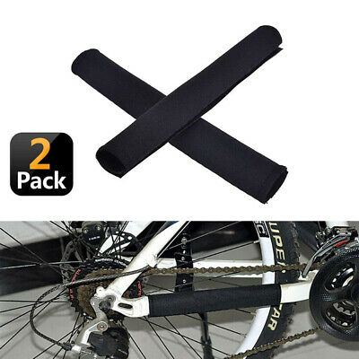 2 x Neoprene Bike Bicycle Chainstay Frame Protector Cover Chain Stay Guard Pad