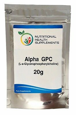 Alpha GPC 99% 20g Powder (Choline alfoscerate)