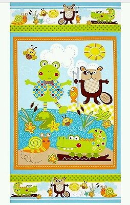 Polka Dot Pond Quilt Panel....free Post..in Stock Now