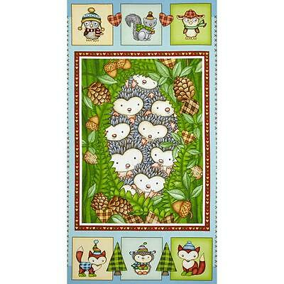 Hedgehugs Quilt Panel..new..free Post..in Stock Now