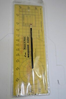 Weems & Plath Navigation Nautical Waypoint Ruler
