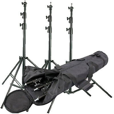 S302 3 × Heavy Duty Studio Light Stand 300cm10ft spring Cushioned Master St