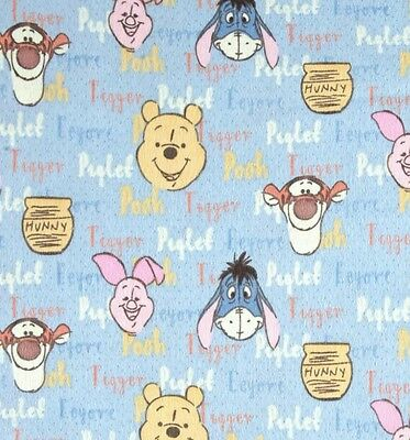 Winnie The Pooh Flannel Fabric * In Stock * Free Post *