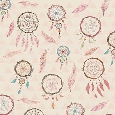 Dream Catchers Fabric * Pink * In Stock * Free Post *